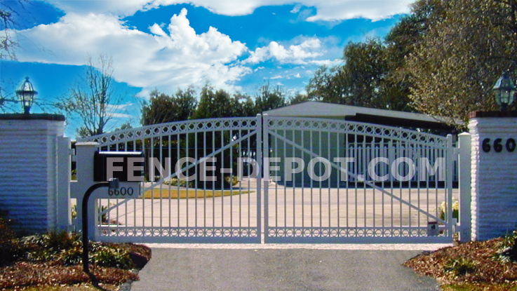Our gallery of aluminum fence driveway gates vinyl