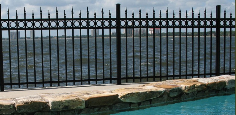Wrought iron fence aluminum fence steel fence - Aluminum vs steel fencing ...
