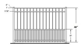 Auburn industrial puppy picket aluminum fence - Most frequent fence materials ...