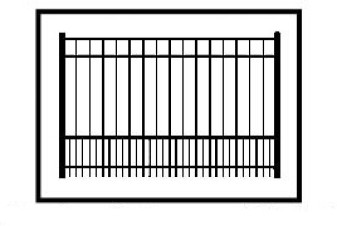 Auburn Commercial Puppy-Picket Aluminum Fence