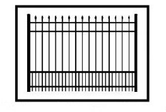 Aurora Commercial Puppy Picket Aluminum Fence