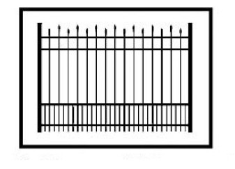 Hiram Commercial Puppy Picket Aluminum Fence