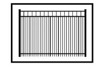Hudson Commercial Aluminum Fence