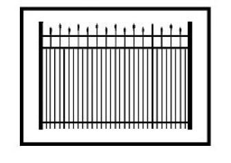 Kent Commercial Aluminum Fence