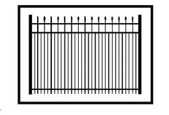 Ravenna Commercial Aluminum Fence