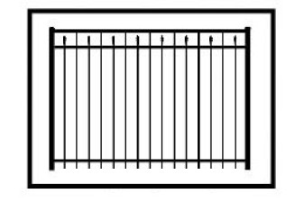 Windham Commercial Aluminum Fence