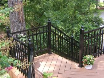 Avon Square Top Aluminum Deck Railing