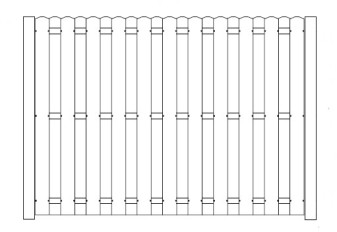 120 Inch High AFS Shadowbox Privacy Fence