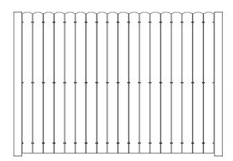 96 Inch High AFS Stockade Privacy Fence