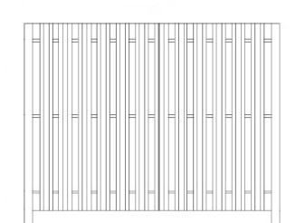72 Inch High Specrail Shadowbox Privacy Fence