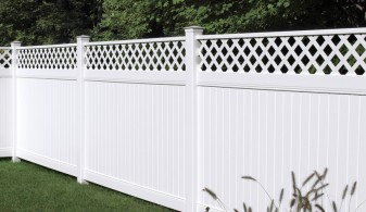 72 Inch Bufftech Lexington with Lattice Vinyl Privacy Fence