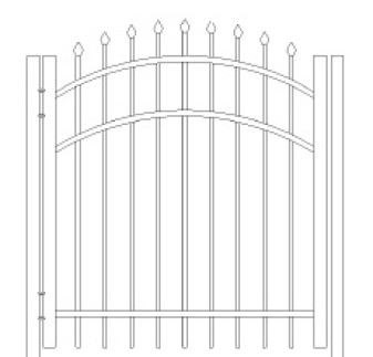 48 Inch Bennington Residential Arched Gate