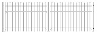 48 Inch Bennington Residential Double Gate