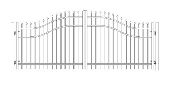 48 Inch Bennington Woodbridge Arched Double Gate