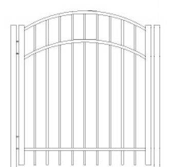 84 Inch Saybrook Commercial Arched Gate