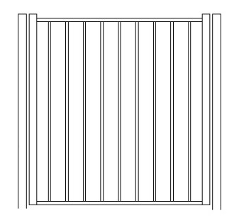 48 Inch High Solon Residential Standard Gate-Pool