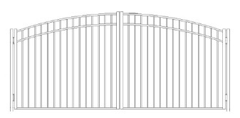 42 inch Storrs Residential Wide Greenwich Arched Double Gate