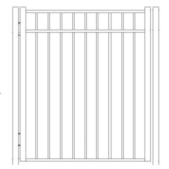 42 inch Storrs Residential Wide Standard Gate