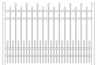 Berkshire Doggie Panel Aluminum Fence