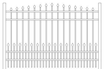 Citadel Doggie Panel Aluminum Fence