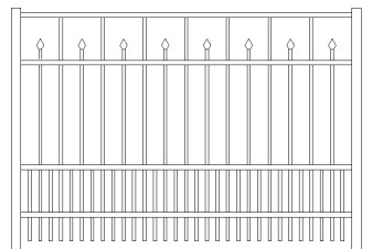 Essex Doggie Panel Aluminum Fence