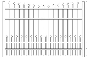 Newport Doggie Panel Aluminum Fence
