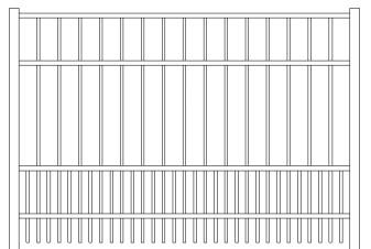 Saybrook Doggie Panel Aluminum Fence
