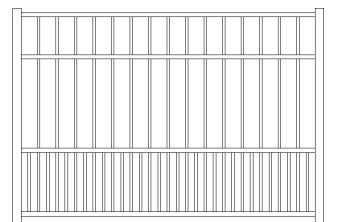 Storrs Doggie Panel Aluminum Fence