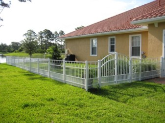 Residential Doggie Panel Aluminum Fence