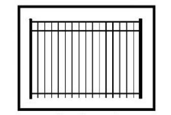 Concealed Fastener Fence Aluminum Fencing