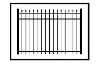 Aurora Commercial Aluminum Fence
