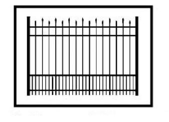 Hiram Commercial Puppy Picket Aluminum Fence