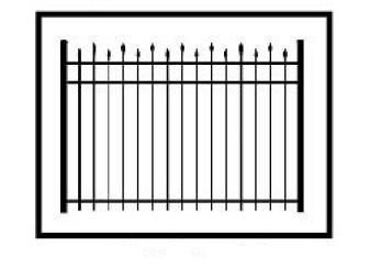 Hiram Commercial Aluminum Fence