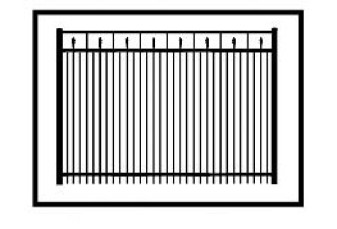 Tallmadge Commercial Aluminum Fence