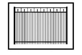Tallmadge Commercial Aluminum Fence