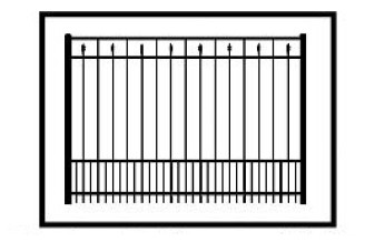 Windham Commercial Puppy Picket Aluminum Fence