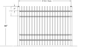 Genesis Industrial Rackable Welded Steel Fence