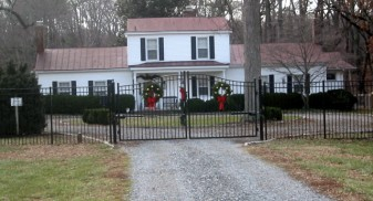 Olympian Smooth Top Wrought Iron Double Driveway Gates
