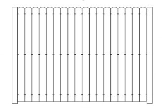 48 Inch High AFS Board on Board Fence