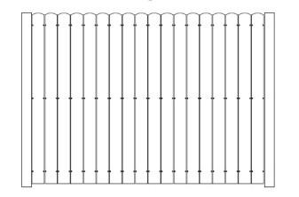 96 Inch High AFS Board on Board Fence