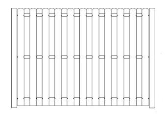 96 Inch High AFS Shadowbox Fence