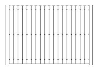 48 Inch High Aluminum AFS Stockade Fence