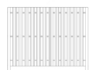 72 Inch High Specrail Shadowbox Fence