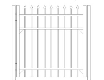 48 inch Bennington Residential Standard Gate