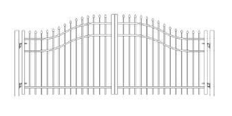 48 Inch Bennington Woodbridge Arched Double Gate