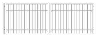 84 Inch Saybrook Commercial Double Gate