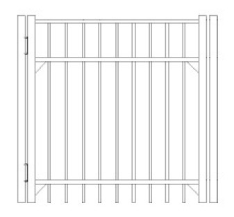 84 Inch Saybrook Commercial Standard Gate