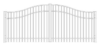 84 Inch Saybrook Commercial Woodbridge Arched Double Gate