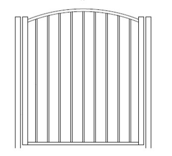 48 Inch High Solon Residential  Arched Gate-Pool