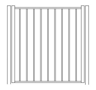 48 Inch High Solon Residential Standard Gate-Pool